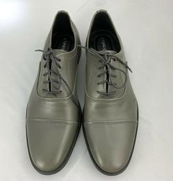 Calvin Klein Mens Shoes Leather Oxford Gray Size 9