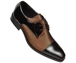 Mens Shoes, Mens Lace up Oxford Shoes, Two-Tone Tuxedo Shoes