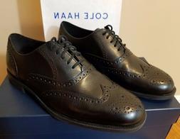 Cole Haan Mens Shoes Size 8.5 Dustin Wingtip Oxford Black Le