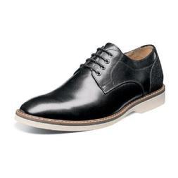 Florsheim Mens Shoes Union Plain Oxford Black Grain Leather