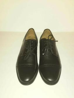 Florsheim mens solid black lace up oxford captoe dress size