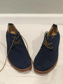 iLoveSIA Mens Suede Leather Classic Casual Oxfords Shoes Nav