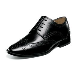 Florsheim MONTINARO WINGTIP OXFORD 11737-001 Black Leather L