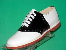 Muffy's Classic Black/white leather Saddle Shoes  US Women's