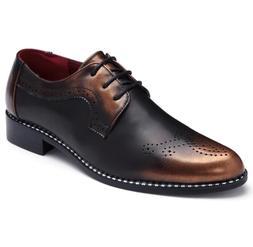 new 2018 Luxury Leather Brogue <font><b>Mens</b></font> Flat