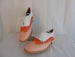 new babe pink white orange oxfords shoes