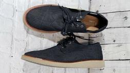NEW Toms Brogue Black Denim Lace-Up Oxford Men's Shoes Size