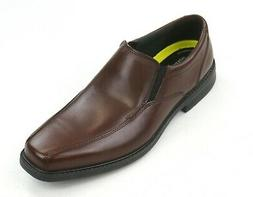 NEW BOSTONIAN BROWN LEATHER BOLTON FREE SLIP ON DRESS SHOES