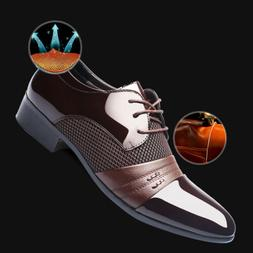 New Business Mens Formal Oxfords Leather Shoes Dress Flat La