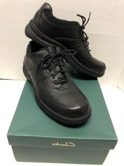 NEW Clarks Casual Oxford Shoes - Black Leather Comfort Men's