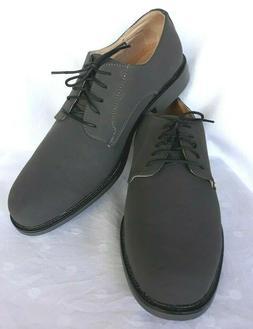 NEW Dexter Comfort Men Dark Grey Lace-Up Plain Toe Oxford Sh