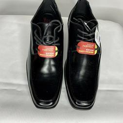 NEW Dexter Comfort Oxford Mens 8.5M Black Faux Leather Dress