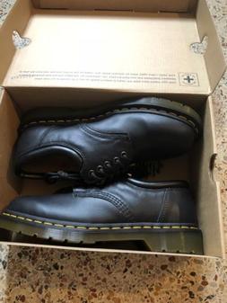 New Dr Martens Black Leather Oxford Men Size 8 / Women Size