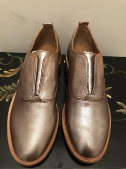 NEW Frye Metallic Copper/Silver Women's Oxford Leather Sli
