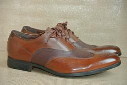 NEW Clarks Gilmor Wing Mens Sz 9.5 M Brown Leather Wingtip D