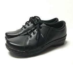 NEW Klogs Illusion Women 9 M Oxford Shoes Black Smooth Leath