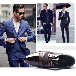 new men formal leather oxford dress shoes