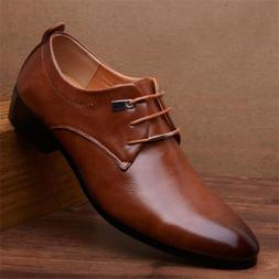 New Men's Casual Oxfords Leather Shoes Pointed Wedding Forma