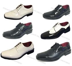 New Men's Dress Shoes Lace Up Tuxedo Wedding Oxfords Formal