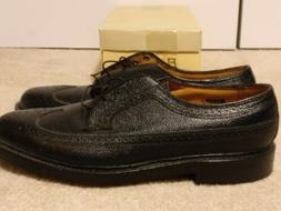 New Men's FLORSHEIM IMPERIAL Black Leather Long-Wing Oxford