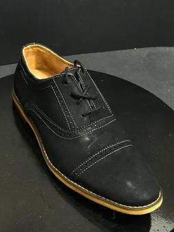 New Steve Madden Men's Joistt Cap Toe Oxford Shoes Black Lea
