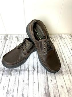 New Men's Skechers Relaxed Fit leather OXFORD Brown shoes  S