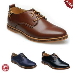 New Men's Soft Leather Shoes Oxfords Business Wedding Formal