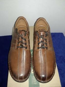 New Clarks Men's Touareg Vibe Oxford Brown Leather Size 9.5