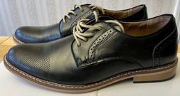 NEW Steve Madden Men's M-Alk Black Leather Dress Shoes Siz