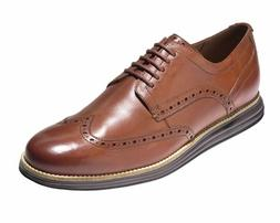 New COLE HAAN Mens Original Grand Brown Leather Wingtip Oxfo