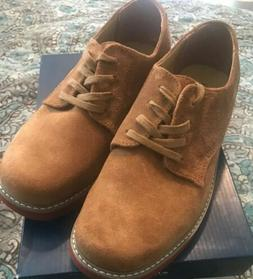 NEW! Sperry Top-Sider Caspian Dirty Buck Brown Boys Oxford S