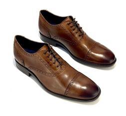 NEW Cole Haan Wayne Cap Toe Oxford Leather British Tan C3068