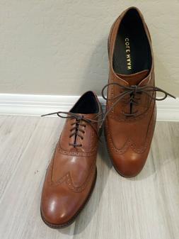 NEW ~ COLE HAAN WAYNE WINGTIP BROWN LEATHER OXFORD LACE UP S