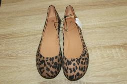 NEW Time And Tru Women's Ballet Flats Leopard Print Casual S