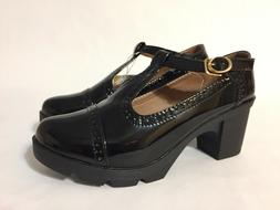 New DADAWEN Women's Classic T-Strap Platform Mid-Heel Oxford