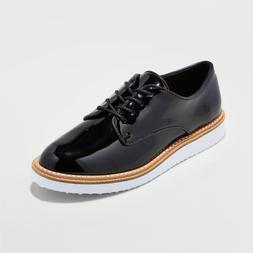 NEW Women's Jaynee Platform Oxford Shoes - A New Day Patent
