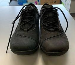 New CLARKS Women's Wave Skip Oxford Shoe, Black Nuback, 7 M