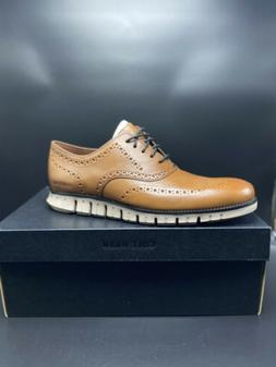 New Cole Haan ZEROGRAND Wingtip Oxford Shoes Burnished Brown