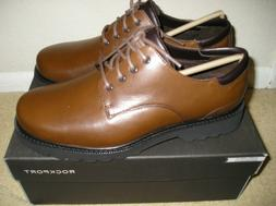 NIB ROCKPORT MEN NORTHFIELD BROWN LEATHER OXFORD CASUAL DRES