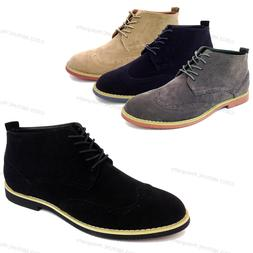 NIB Men's Ankle Boots Wing Tip Lace Up Fashion Oxfords Casua