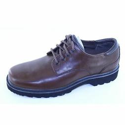 Rockport Northfield Dark Brown Leather Lace Up Casual Oxford