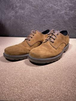 Rockport Northfield Mens Brown Leather Lace-Up Shoes 10.5 Wa