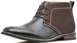 OTW04 Men's Chukka Ankle Dress Captoe Boots Fall Winter Lace