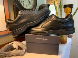 Rockport Oxford Mens Comfort Walking Shoe Black Leather Size