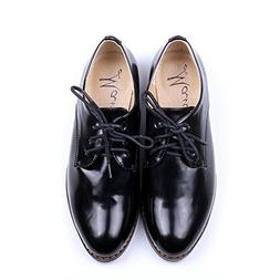 OUOUVALLEY Women's Oxford Patent Faux Leather Dress Shoes ,