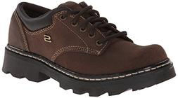 Skechers Women's Parties-Mate Oxford,Chocolate Suede Leather