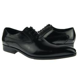 Carrucci Plain Toe Oxford, Men's Dress Leather Shoes, Black