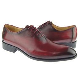 Carrucci Plain Toe Wholecut Oxford, Men's Dress Leather Shoe