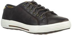 Skechers Men's Porter Ressen Oxford,10.5 M US,Dark Brown