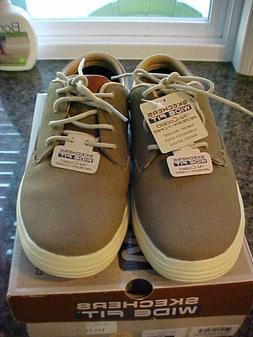 Skechers Porter-Zevelo Tan Mens Sneaker Oxford Size 9W Wide